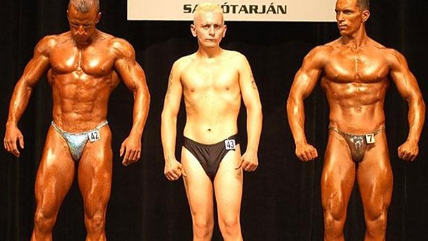Een fitness wedstrijd