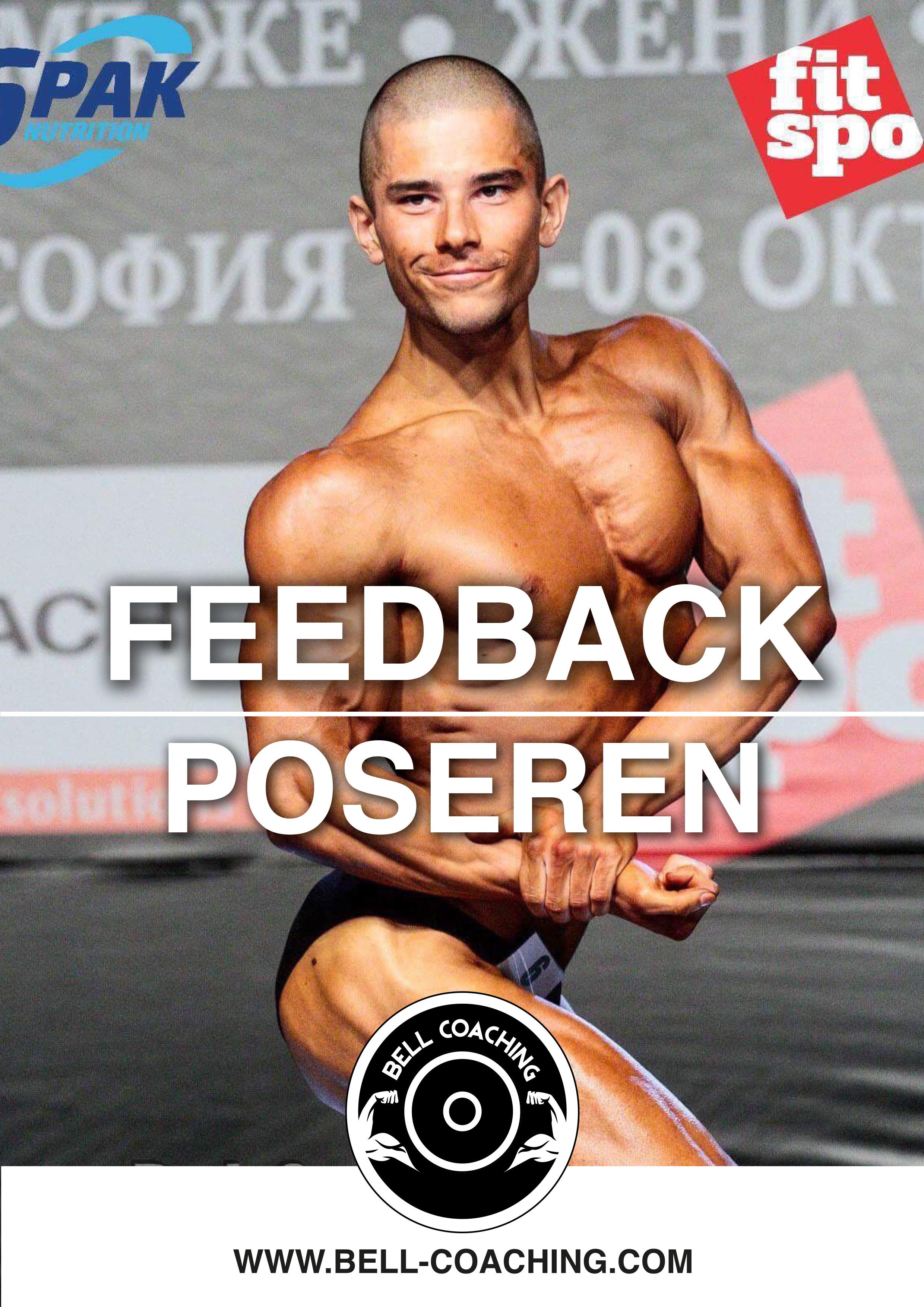 Feedback gids poseren voor bodybuilden